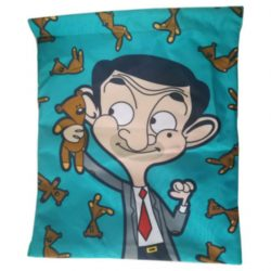 Mr Bean and Bear Cartoon Drawstring Bag