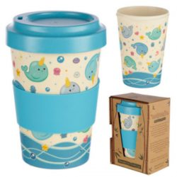 Narwaii & Friends Narwhal Reusable Screw Top Bamboo Travel M