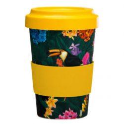 Toucan Party Reusable Screw Top Bamboo Travel Mug