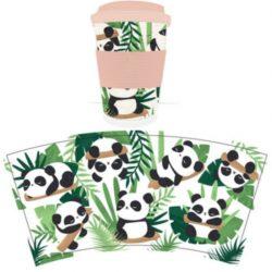 Pandarama Reusable Screw Top Bamboo Travel Mug