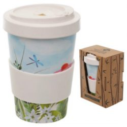 Botanical Gardens Reusable Screw Top Bamboo Travel Mug