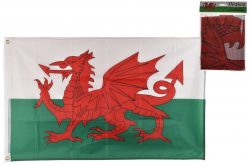3′ x 2′ WALES FLAG WITH METAL GROMMETS