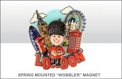 London Guardsman Springy Printed Resin Magnet