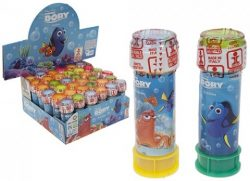 4 ASST STYLE FINDING DORY 60ML BUBBLE TUBS W/ PUZZLE LIDS