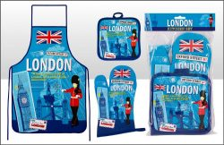 London Scrapbook Apron set