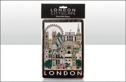 LONDON CITYSCAPE TIN SIGN 30X17cm