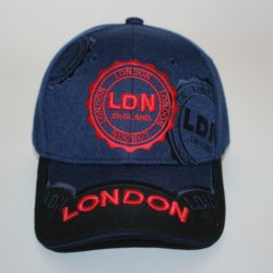 London 3D Stamp Cap Navy