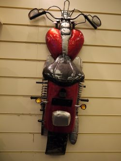 METAL WALL ART MOTORBIKE