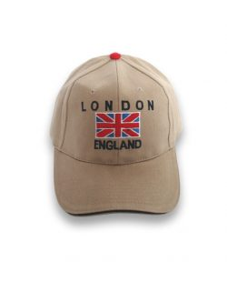 Baseball Cap London Flag England Cream