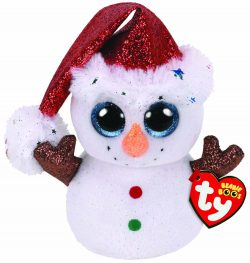 TY BEANIE BOOS – FLURRY THE SNOWMAN
