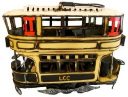 METAL ART TRAM YELLOW