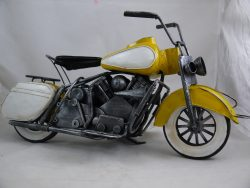 METAL ART YELLOW HARLEY STYLE BIKE