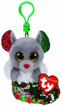 TY FLIPPABLE BOO KEY CLIP – CHIPPER XMAS MOUSE