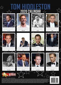 Tom Hiddleston A3 Calendar 2020