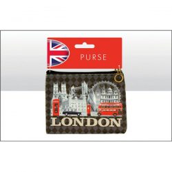 London B/W Montage Zip Purse