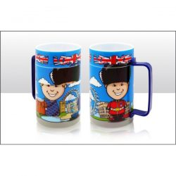 London Comical Scene Kids Spinning Plastic Mug