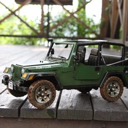 METAL JEEP WRANGLER GREEN