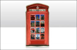 Telephone Box Foil Stamped Magnet