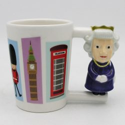 Ceramic Queen Shaped Handle Mug