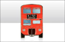 Red London Bus Foil Stamped Magnet