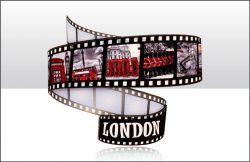 London Filmstrip Wood Magnet
