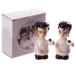 The King Ceramic Salt and Pepper Set