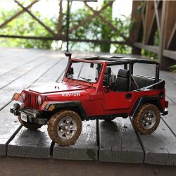METAL JEEP WRANGLER RED