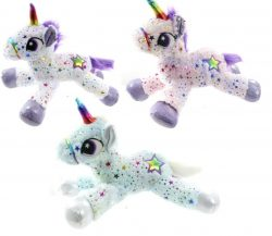 "17"" SPARKLE STAR UNICORN 3 ASST"