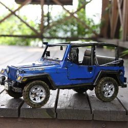 METAL JEEP WRANGLER BLUE