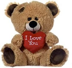 20cm Brown Bear with I love You Heart