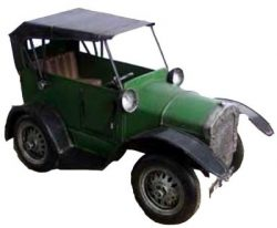 METAL ART GREEN VINTAGE CAR – RETRO
