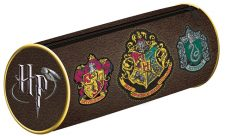 Harry Potter Crests Barrel Pencil Case