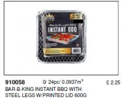 INSTANT BBQ DISPOSBALE 600G