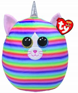 TY Heather Cat Squish 12″