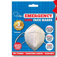 FOLDING DISPOSABLE FACE MASK 3 PACK